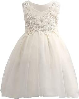 rose flower girl dress