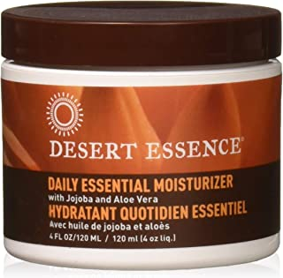 Desert Essence Daily Essential Facial Moisturizer - 4 Fl Oz - Pack of 3 - Jojoba Oil - Aloe Vera - Prevents Acne - Soft Ra...