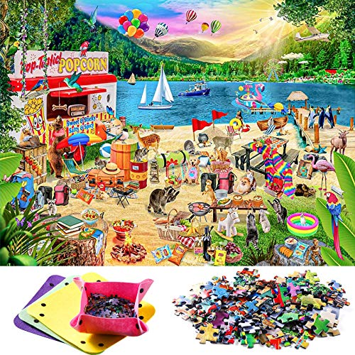 Puzzle 1000 Teile, Vintoney Klassische Puzzles Puzzle für Erwachsene Impossible Puzzle Kinder Jungen Puzzle Jigsaw Puzzle anspruchsvoll schwere farbenfrohes Erwachsenenpuzzle Geschicklichkeitsspiel
