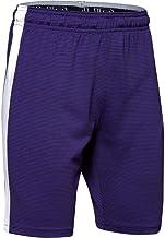 Under Armour Boys' Threadborne Match Shorts, Purple (500)/White, Youth Medium