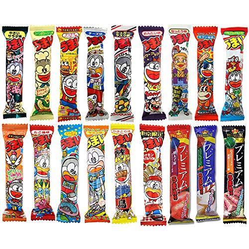 Umaibo Various Taste 18 types 100pcs Set Japanese Stick Type Snack Yaokin Ninjapo