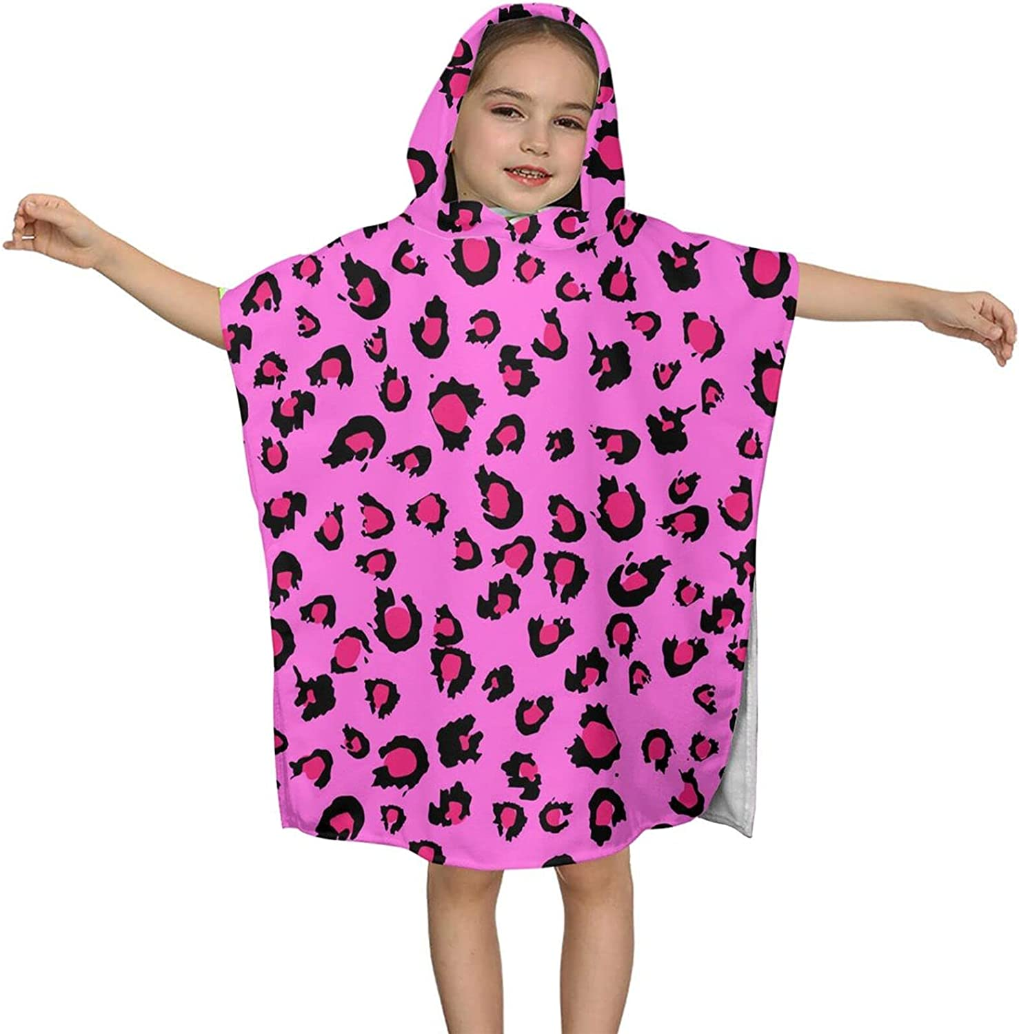 Hooded 67% OFF of fixed price Bath Towel Pink Leopard Wrap Kids NEW Soft Print