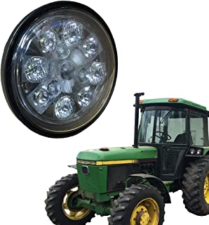 John Deere Tractor LED Light - Sealed Round Hi/Lo Beam with Screw Connection (Fits John Deere Tractor: 2355, 2750, 2755, 4020, 4030, 4430, 4450, 4650, 4850, 8430, 8440, 8450, 8630, 8640, 8650 & More)