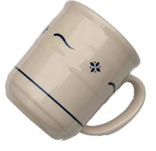 Longaberger Pottery Woven Traditions Heritage 12 OZ Coffee Mug/Cup (Blue)