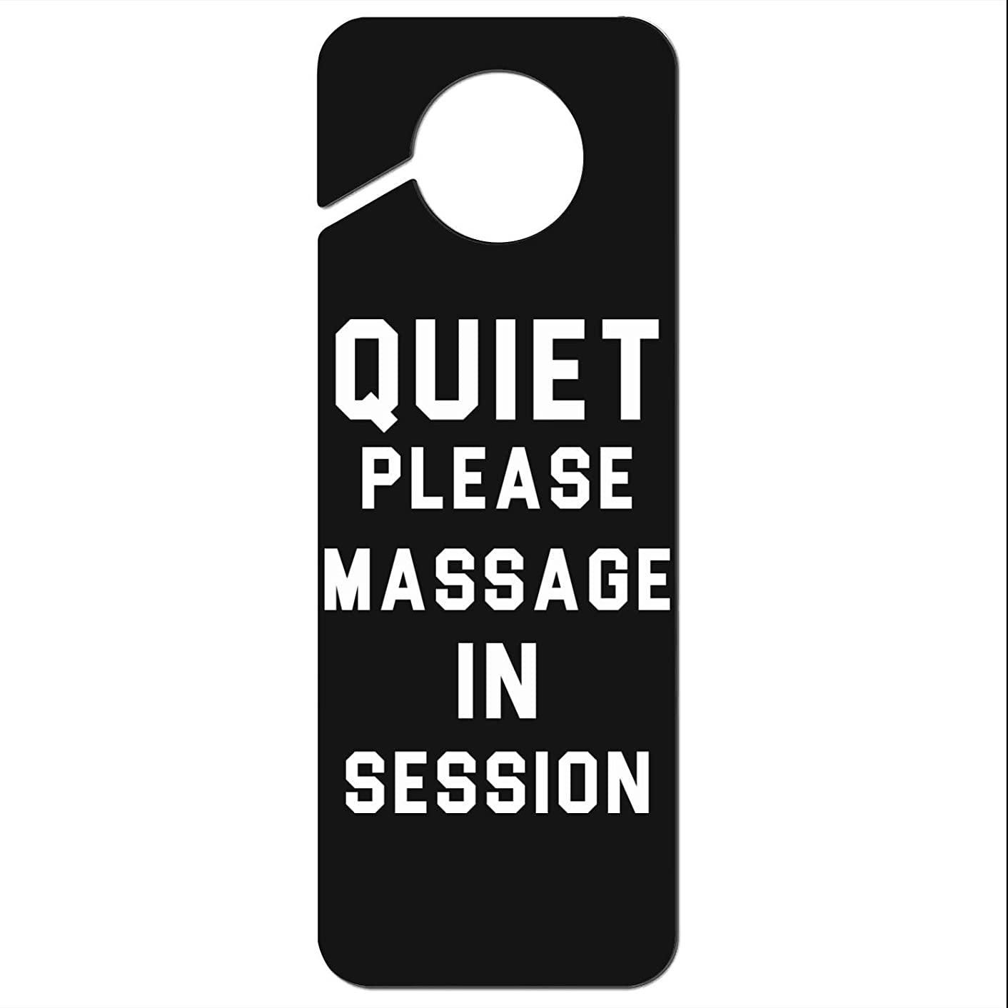 VR4U Quiet Please Massage in Session Door Knob Hanger Sign for Office, Hotel, Home, Clinic, Therapy