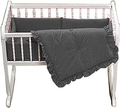 Baby Doll Bedding Solid Cradle Set, Grey