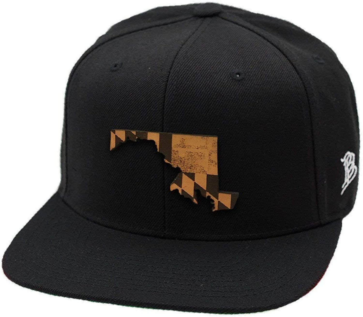 Branded Bills Maryland 'The 7' Leather Patch Snapback Hat