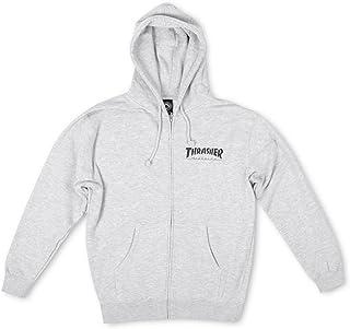Sweater Hooded Zip Men Thrasher Magazine Logo Zip Hoodie
