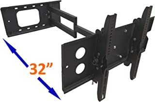 """FORGING MOUNT Long Arm Corner TV Mount Full Motion Articulating Wall Mount TV Bracket with 32 inch Extension for Corner/Flat Installation Fits 42""""-85"""" TVs, VESA 600x400mm Compatible, Holds up to 150 l"""