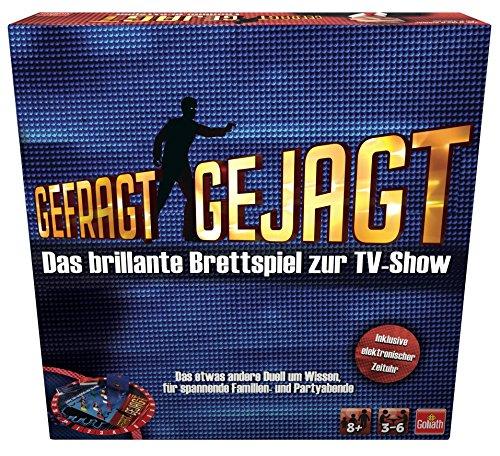Goliath 76520 Gefragt Gejagt | Familien Brettspiel | spannendes Wissensspiel ab 8 Jahren | für 3-6 Spieler | Quiz-Spiel bekannt aus dem TV | Wissensduell für jung und alt