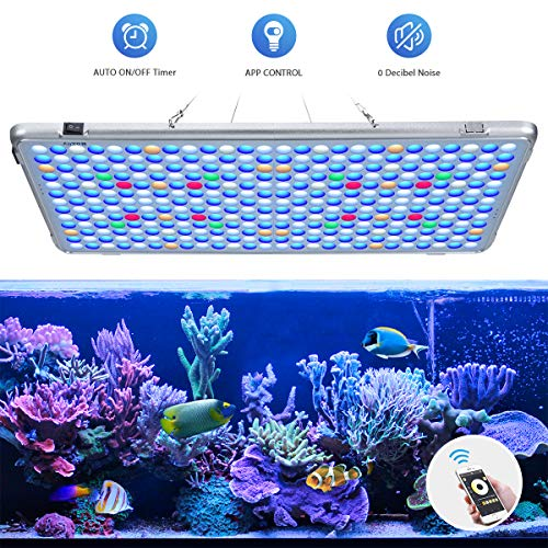 Bozily Aquarium Lights LED 300W, Full Spectrum Coral Reef Light for Aquarium Tanks