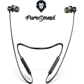 ENCORE® PURESOUND - Brand Italiano - Cuffie Bluetooth sport con Doppio Driver, Auricolari Bluetooth senza fili, 10h stereo, Cuffie wireless waterproof, Cuffiette Bluetooth