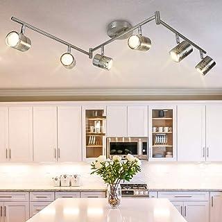 Sponsored Ad - DLLT 6-Light Track Lighting Fixtures Swing Arm, Kitchen Ceiling Spot Light, Flush-Mount Foldable Track Rail...