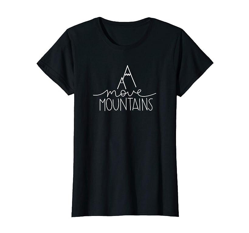 Womens Move Mountains - Cute Positive Growth Mindset Teacher T-Shirt