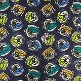 NAVY blau Halloween Bandana SKULLS 100% Baumwolle gedruckt