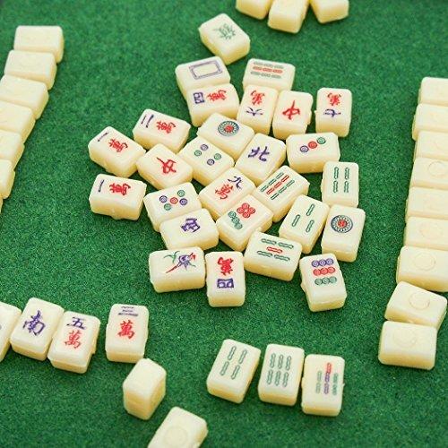 【Odoria ミニチュア雜貨】1/12 ミニ麻雀 フルセット ゲーム おもちゃ ドールハウス