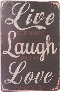 Live Love Laugh Funny Tin Sign Bar Pub Garage Home Art Wall Decor Art Poster Retro