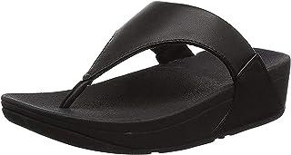 Fitflop Lulu Leather Toepost - Black, Women Toe Post, Black, 39 EU