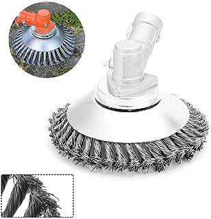 The Indestructible Trimmer Garden Tools, el cepillo de hierba de la cabeza del cortacésped del jardín Rueda de alambre de acero, la cabeza de la recortadora de cepillo de alambre (6 Inches)