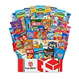 FANTASTIC FOR GIFT BASKETS - These snack care package boxes contain an assortment of 40 single serving snacks great for college care packages, Deployment, Anniversary, military care packages, camping snacks, back to school supplies and school snacks,...