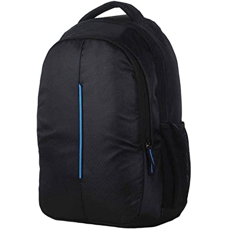 The Deal Men's 15.6 Inch Polyester Casual Laptop Backpack, Travel Computer Bag Water Resistant College Work School Bag (Blue)