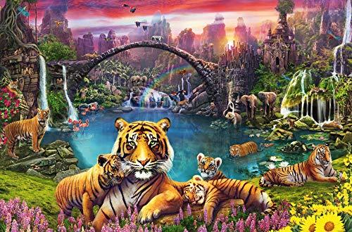Ravensburger Puzzle 16719 Tiger in paradiesischer Lagune 16719-Tiger 3000 Teile, Mehrfarbig
