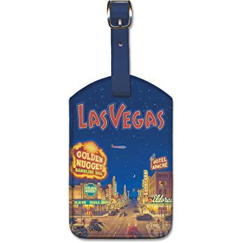 Cuba by Kerne Erickson Pacifica Island Art Leatherette Luggage Baggage Tag