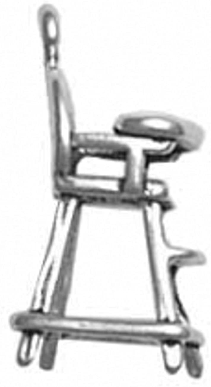 Sterling Silver Max 78% OFF Girls overseas .8mm Box Chain High Chair 3D Pendant Baby