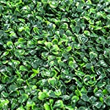DEWVIE Artificial Boxwood Panels Topiary Hedge Plant,Privacy Hedge Screen Suitable for Outdoor,Indoor, Garden, Fence, Backyard and Home Decor Greenery Walls 12 Pieces 20'x 20' with 100 Green Zip Ties