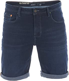 riverso RIVUdo Pantalones Vaqueros Cortos para Hombre, Corte Regular, 99% algodón, Bermudas, Gris, Azul Claro, Azul, Negr...