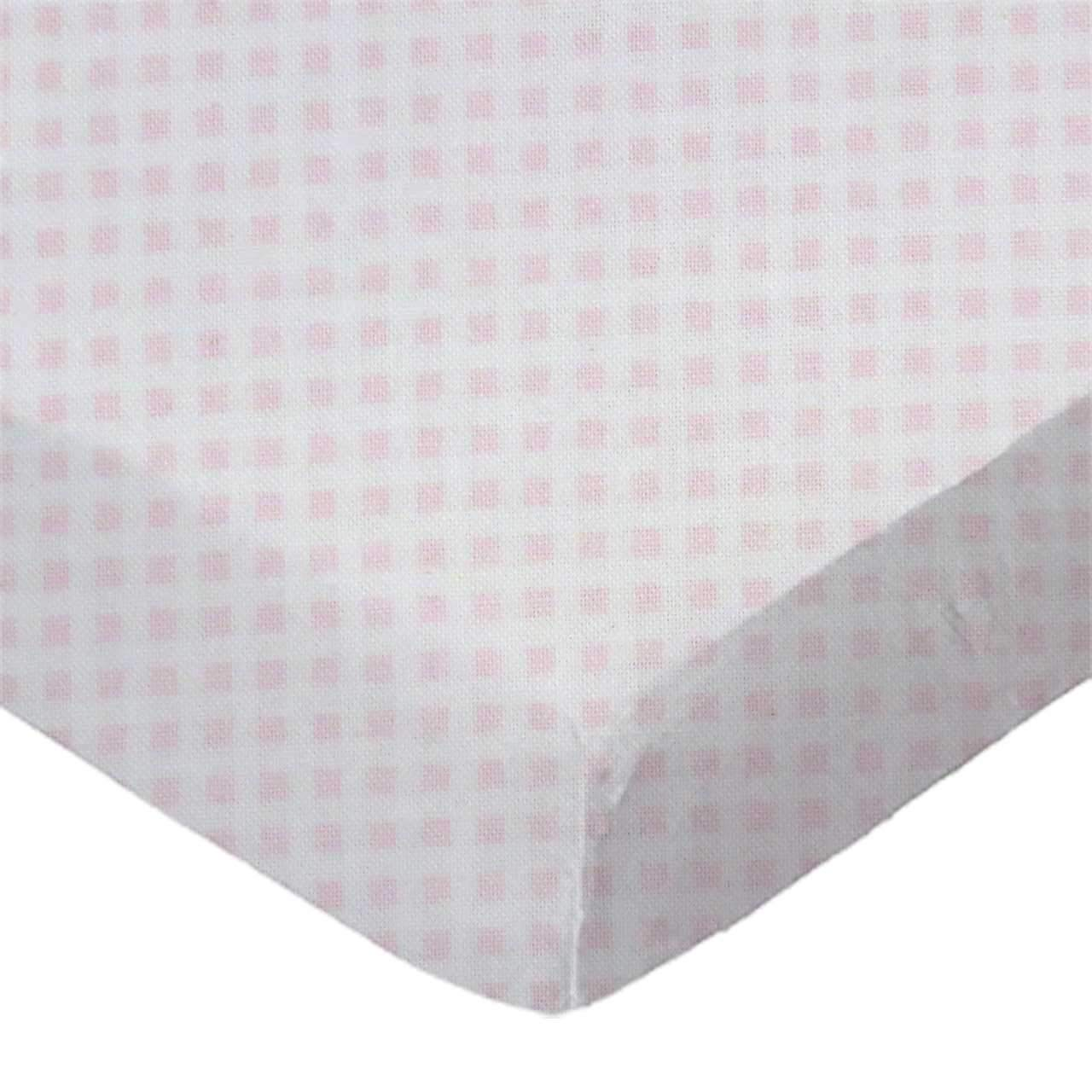 SheetWorld discount Fitted Cradle Sheet - Max 77% OFF Pink Made Jersey Gingham Knit