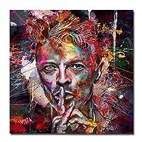 水彩ポップストリートアート人々顔絵画キャンバスプリント油絵壁の装飾アート写真用リビングルームいいえフレーム,30*30cm