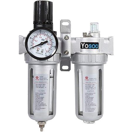 Luftfilterregler Ac3010 03 Aluminiumlegierung Druckluft Luftdruckregler Feuchtigkeit Abscheider Wasserfilter 3 8 Reinigt Die Luft Und Filtert Die Feuchtigkeit 1pc Gewerbe Industrie Wissenschaft