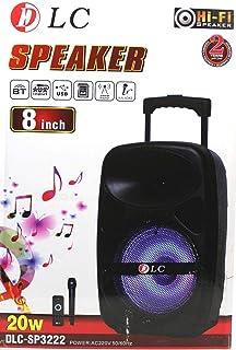 """Wireless Trolley Speaker 8"""", 20W, DLC-SP3222 with Remote control, Wireless Mic"""