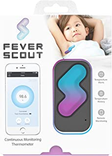 Fever Scout, Soft, Wearable, Smart Thermometer, continuously Measure Temperature, Accurate, Medical Grade, FDA Cleared, Remote Monitoring on Smartphone