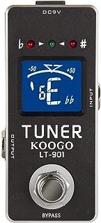 Koogo High Precision Chromatic Guitar Tuner Pedal True Bypass