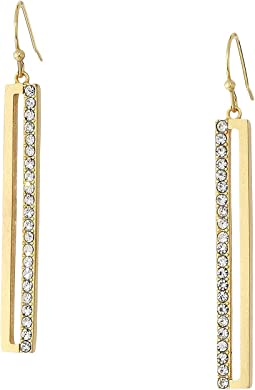 Pave Linear Earrings