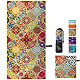 OCOOPA Microfiber Beach Towel – Extra Large, XL (34'x71') Quick Dry Soft Lightweight Compact Sand Free Towel - Perfect for Camping, Travel, Beach, Swimming - Bohemian