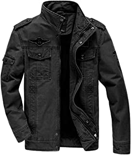 MISSMAO_FASHION2019 Mens Casual Jackets Lightweight Slim Fit Bomber Jackets Coats Classic Casual Cargo Jacket Outerwear Wi...