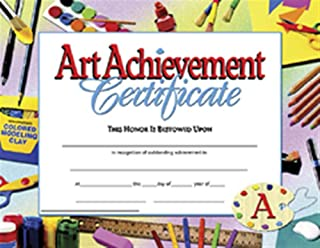 Hayes Art Achievement Certificate Style B, 11 x 8-1/2 inches, Pack of 30