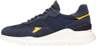 Nero Giardini E001520U Sneakers Uomo in Pelle, Camoscio E Tela