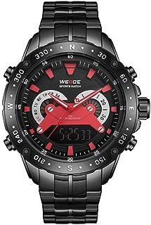 ساعة WH8501 ثنائية العرض بحركتين رقمية كوارتز للرجال 3ATM مقاومة للماء للأعمال الرياضية ساعة عسكرية مضيئة بالمنطقة الزمنية...