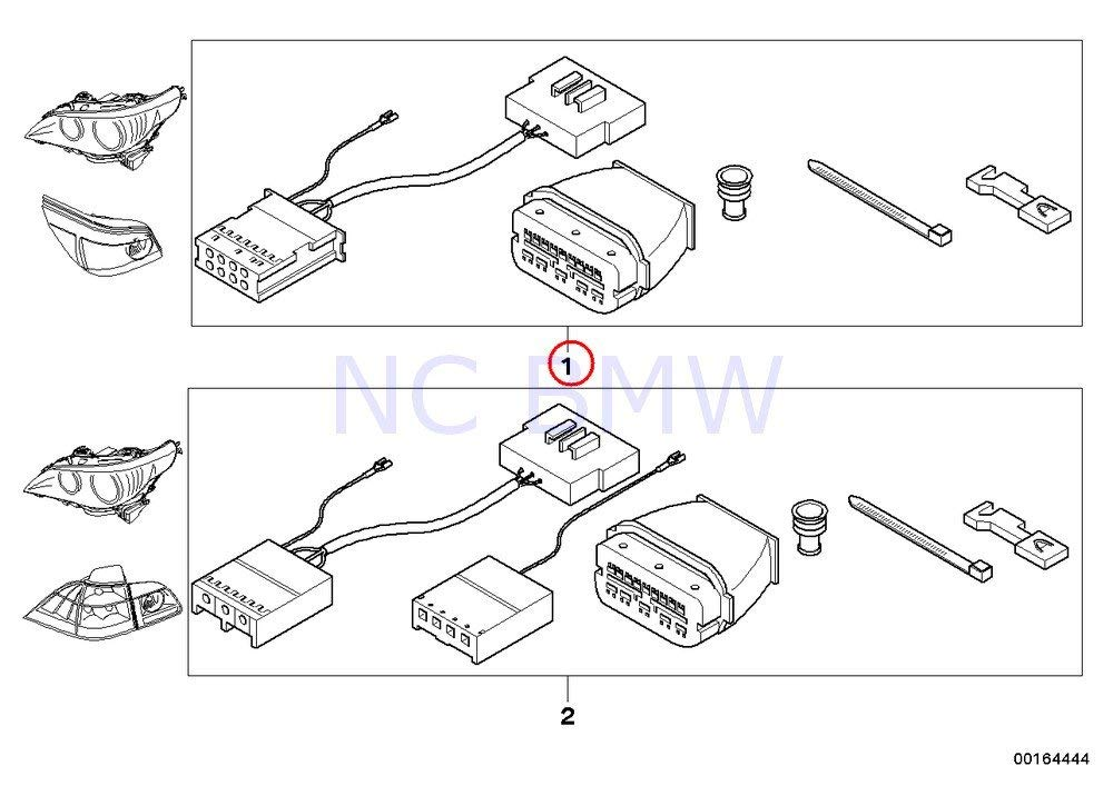 BMW 5 E60 Taillight Wiring Harness Set Kit 61120432110 0432110 New OEM