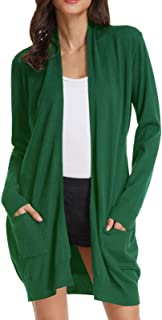 a4a53e92752 GRACE KARIN Essential Solid Open Front Long Knited Cardigan Sweater for  Women