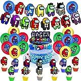 Superhéroes y Among Us decoraciones para fiestas - YUESEN 30pcs 1er Cumpleaños Bebe Globos Decoracion Cumpleaños 1 Año Bebe Niño y Niña Fiesta Cumpleaños Artículos Suministro