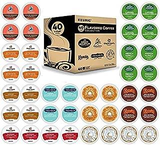 K-Cup Flavored Variety Sampler, Keurig Single-Serve Coffee, 40 Count