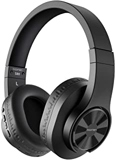 bopmen S80 Bluetooth Over Ear Headphones - Wireless and Wired Headphones with Deep Bass Headset, Comfortable Ear Cups, Built-in Microphone for Phone iPad PC Laptop Notebook Music