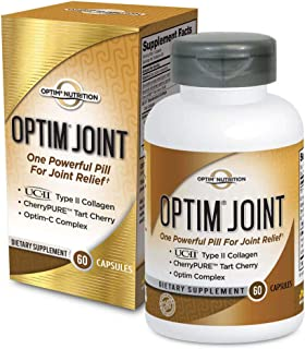 Optim Nutrition Optim Joint Supplement (60 caps) w/UC-II Type 2 Collagen, Clinically Proven 2X More Effective Than Glucosamine & Chondroitin: CherryPure Tart Cherry, Quercetin for Joint Relief