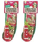 *NEW* 2 PACK GOODBOY CHRISTMAS DOG STOCKING FESTIVE CHRISTMAS TREATS TOYS 10210