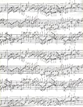 Sheet Music on White Heavy Embossed Gift Wrapping Paper -Two 24 In x 6 Ft Sheets
